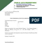 Surat Permohonan Penutupan Rekening Bank - Perusahaan