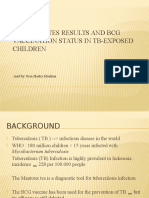 Mantoux Tes Results and Bcg Vaccination Status In