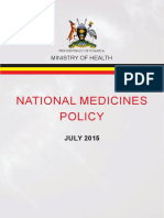 Uganda National Medicines Policy, 2015