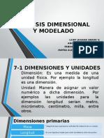 Analisis Dimensional y Modelado
