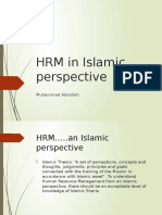 HRM in Islamic Perspective