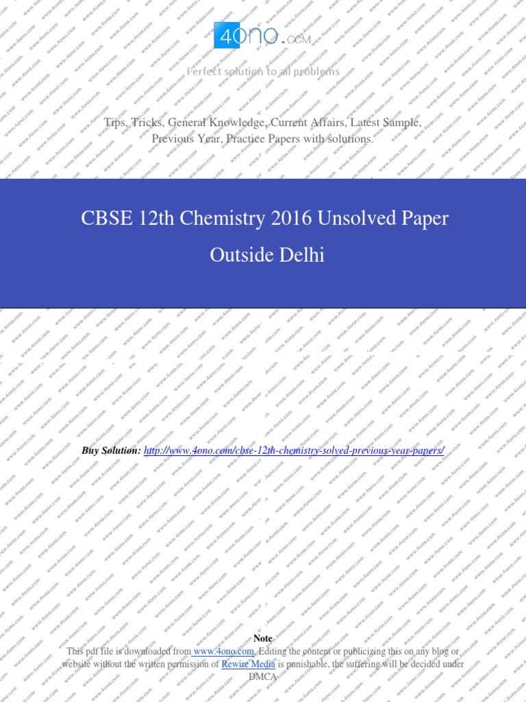 Chemistry 2016 unsolved paper outside delhipdf redox chemical chemistry 2016 unsolved paper outside delhipdf redox chemical reactions fandeluxe Choice Image