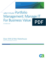 Service Portfolio Management - Manage IT for Business Value