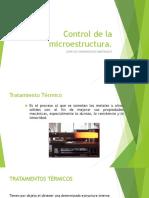 Control de La Microestrutura