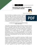 El Estado Plurinacional, Hoy - Paradoja Señorial de Henry Pinto Davalos