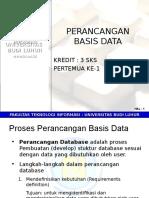 Pt1-Proses Perancangan Basis Data