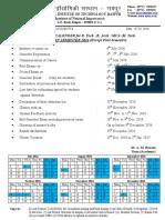 Academic Calendar B.tech._B.arch._M.tech._MCA_Except Ist Sem. July to Dec 2016