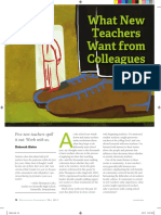 bieler - what new teachers want from colleagues