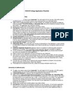 Application. CSU and UC Checklist
