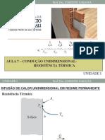 Condução Unidimensional Resistencia termica