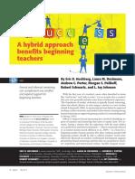 hochberg - a hybrid approach benefits beginning teachers