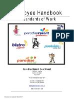 Employee Handbook & Standards of Work - March 2015
