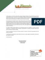 TARIFARIO 2016 (PARTICULARES) La rinconada