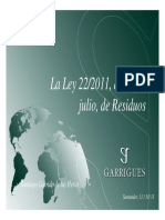 Presentación de la Ley de Residuos 22/11