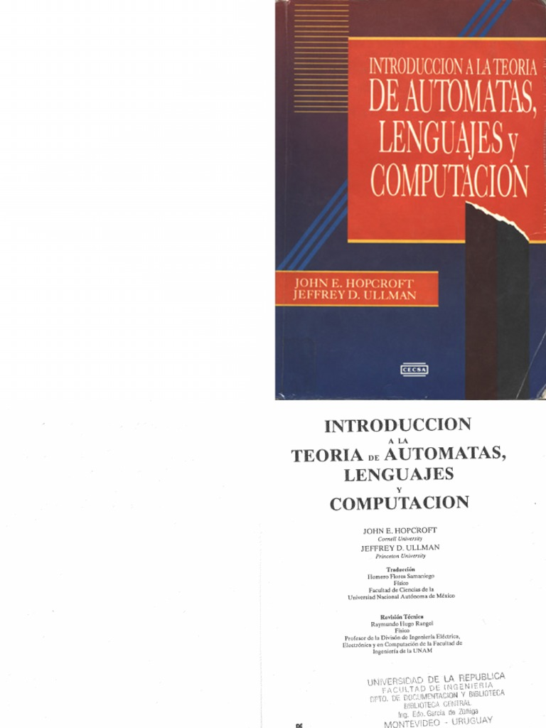teoria de automatas lenguajes y computacion hopcroft