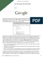 Google Grupos - Como Criar Grupo de Discussão