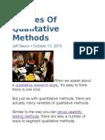 5 Types of Qualitative Methods