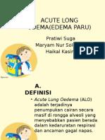 PPT acute long oedem