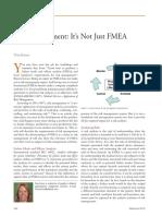 Risk Management - It's Not Just FMEA