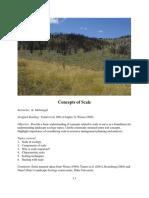 Concepts of Scale Ecology Un Repaso de Conceptos