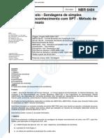 NBR 06484 - 2001 - Solo - Sondagens de simples reconhecimento com SPT - Metodo de ensaio.pdf