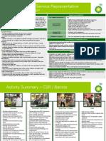 Customer Service Representative - Role Profile