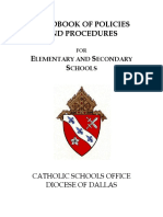 handbook of policies and procedures for elementary and secondary schools