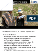 Tierra y Territorio en La Cpe Bolivia - Fundacion Tierra