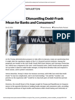 What Would Dismantling Dodd-Frank Mean for Banks and Consumers