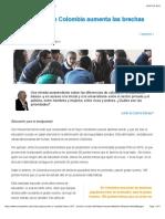 La Educación en Colombia Aumenta Las Brechas
