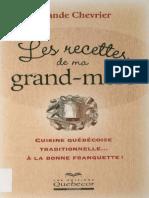 Chevrier Yolande - Les Recettes de Ma Grand-mere