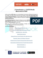 Network Transients 3 - GATE Study Material in PDF