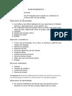 Plan Diagnostico 2015 Zoila