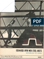 GWS Open Web Joists - 1973