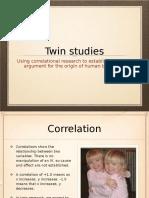Twin Studies- Genetics