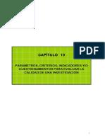 Capitulo 10 4a Edic. Parámetros, Criterios, Indicadores Y-o Custionamientos Para Evaluar La Calidad de Una Investigación.