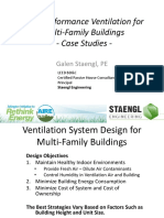 High Performance Ventilation for Multi-family Buildings