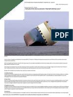Penyebab Utama Kecelakaan Transportasi Laut