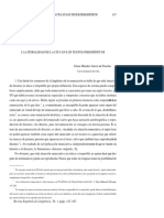 La Literalidad de La Cita en Los Textos Periodísticos (2000) Elena Méndez García de Paredes