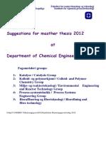 Samleliste Masteroppgaveforslag 2012
