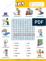 Jobs Esl Vocabulary Word Search Worksheet for Kids