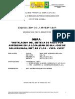Liquidacion de Riego de Sallccahuara Vilca