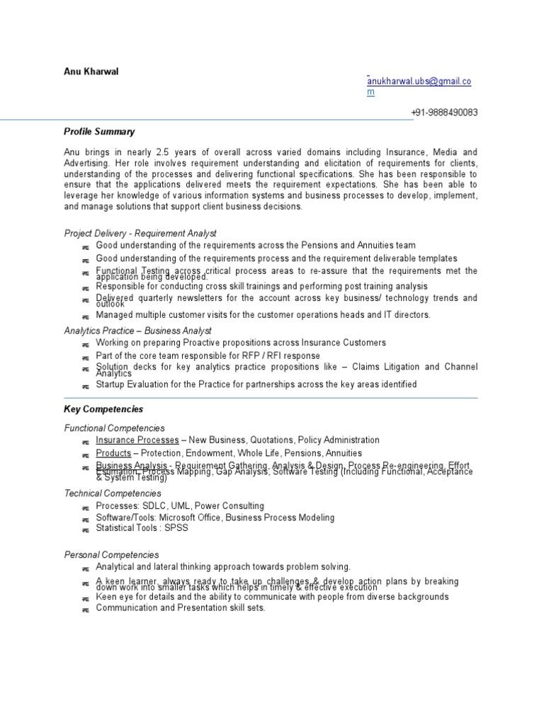 Anu Kharwal BA | Business Process | Analytics