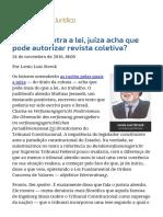 ConJur - Por Que, Contra a Lei, Juíza Acha Que Pode Autorizar Revista Coletiva