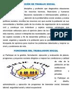 Definición y Funciones de Trabajo Social