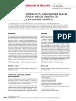 Conocimientos básicos para leer (y escribir) un artículo científico (1)- lectura crítica de documentos científicos