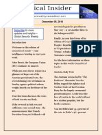 Geopolitical Insider – December 05, 2016