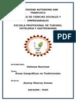 Areas Geograficas No Tradicionalesdel Perú