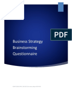 Business Strategy Brainstroming Questionnaire