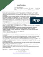 Civilian Communciations Officer PT12-2016